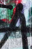 Grafiti Background on the concrete wall. Grafiti in different patterns, letters, splatter and running spray paint, photography in 105mm macro lens royalty free stock photo