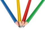 Grafitowi drewniani ołówki dla kreślić Fotografia Royalty Free