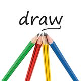 Grafitowi drewniani ołówki dla kreślić remis Ilustracja Wektor