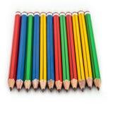 Grafitowi drewniani ołówki dla kreślić strzału zbliżenie na bielu plecy Zdjęcie Stock