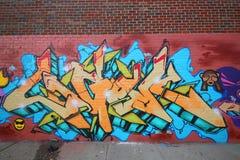 Grafitti art at East Williamsburg in Brooklyn Stock Photos
