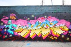 Grafitti art at East Williamsburg in Brooklyn Stock Images