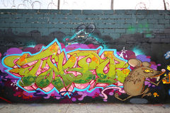 Grafitti art at East Williamsburg in Brooklyn Royalty Free Stock Photo