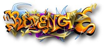 Grafitti Art Of Revenge Royaltyfri Fotografi