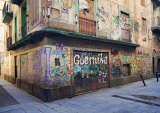 Grafitti in Barcelona Stock Photos