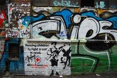 Grafitti at city street wall Royalty Free Stock Images