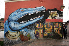 Grafitti dinosaurie T-rex Royalty Free Stock Images