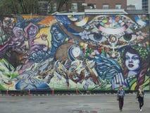 Grafitti in the Distillery District, Toronto, Canada Royalty Free Stock Photo