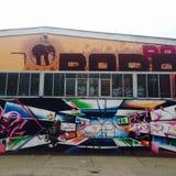 Grafitti för Berlin popgraf Royaltyfri Foto
