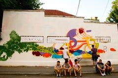 Grafitti för gataleverans 2012 arkivbild