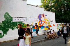 Grafitti för gataleverans 2012 Arkivfoton