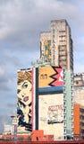 Grafitti för popkonst på byggnad i Sao Paolo Royaltyfri Fotografi
