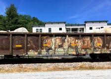 Grafitti för skalle för konstruktionsfraktdrev fotografering för bildbyråer