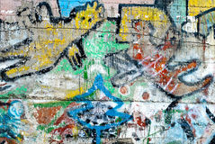 Grafitti - gatakonst - målning Royaltyfri Fotografi