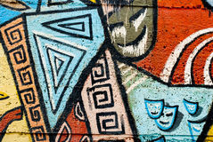 Grafitti - gatakonst - målning arkivbild
