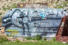 Grafitti i bergen Royaltyfri Foto
