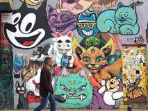 Grafitti i Bogota Arkivbild