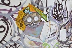 Grafitti i Cagliari, i Sardinia Arkivfoto