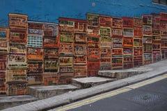 Grafitti i den Hong Kong centralen Royaltyfri Foto