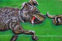 Grafitti i Grekland Royaltyfria Bilder