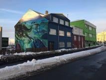 Grafitti i Island Royaltyfria Bilder