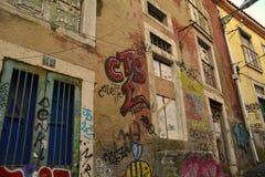 Grafitti i Lissabon Arkivbilder