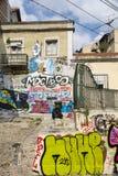 Grafitti i Lissabon Royaltyfria Foton
