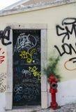 Grafitti i Lissabon Royaltyfri Foto
