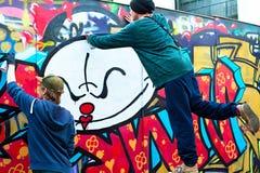 Grafitti i Lissabon Royaltyfria Bilder