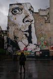 Grafitti i Montmartre Royaltyfri Fotografi