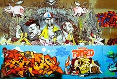 Grafitti i Montreal Royaltyfri Fotografi