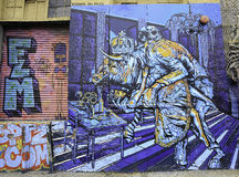 Grafitti i New York City royaltyfri illustrationer