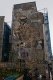 Grafitti i Paris Arkivbild