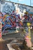 Grafitti i Rome royaltyfri fotografi