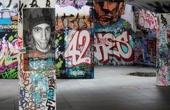 Grafitti i skridsko parkerar Royaltyfri Bild