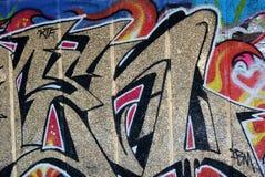 Grafitti i skridsko parkerar Arkivfoton