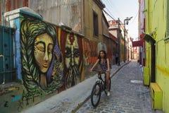 Grafitti i Valparaiso Chile Royaltyfria Bilder