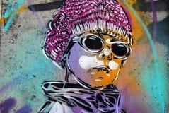 Grafitti lappar i Oslo Arkivbild