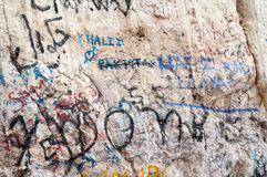 Grafitti on mountain rocks in UAE Royalty Free Stock Photography