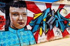 Grafitti på den första verkliga turneringen av Puerto Arkivfoto