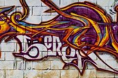 Grafitti på den första verkliga turneringen av Puerto Royaltyfri Fotografi