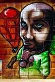 Grafitti på den första verkliga turneringen av Puerto Royaltyfri Bild