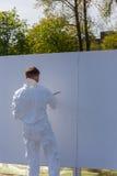 Grafitti på den vita väggen Fotografering för Bildbyråer