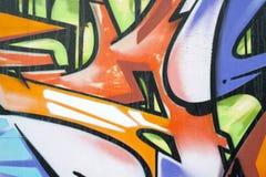Grafitti på en vägg Arkivbild