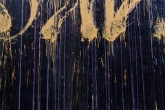 Grafitti på en vägg Stock Illustrationer
