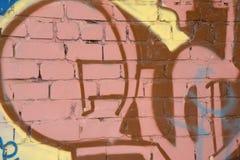 Grafitti på ett ställe i staden detta ställe försvinner nu, royaltyfri bild