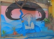 Grafitti på gatan i Kolkata Royaltyfri Fotografi