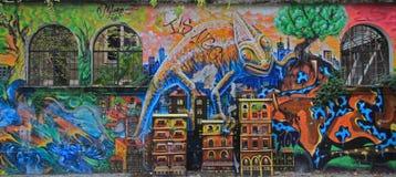 Grafitti på gatan i Milan royaltyfri foto