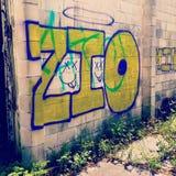 Grafitti på mina väggar royaltyfri bild