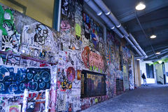 Grafitti på stolpegränden, Seattle, Washington Fotografering för Bildbyråer